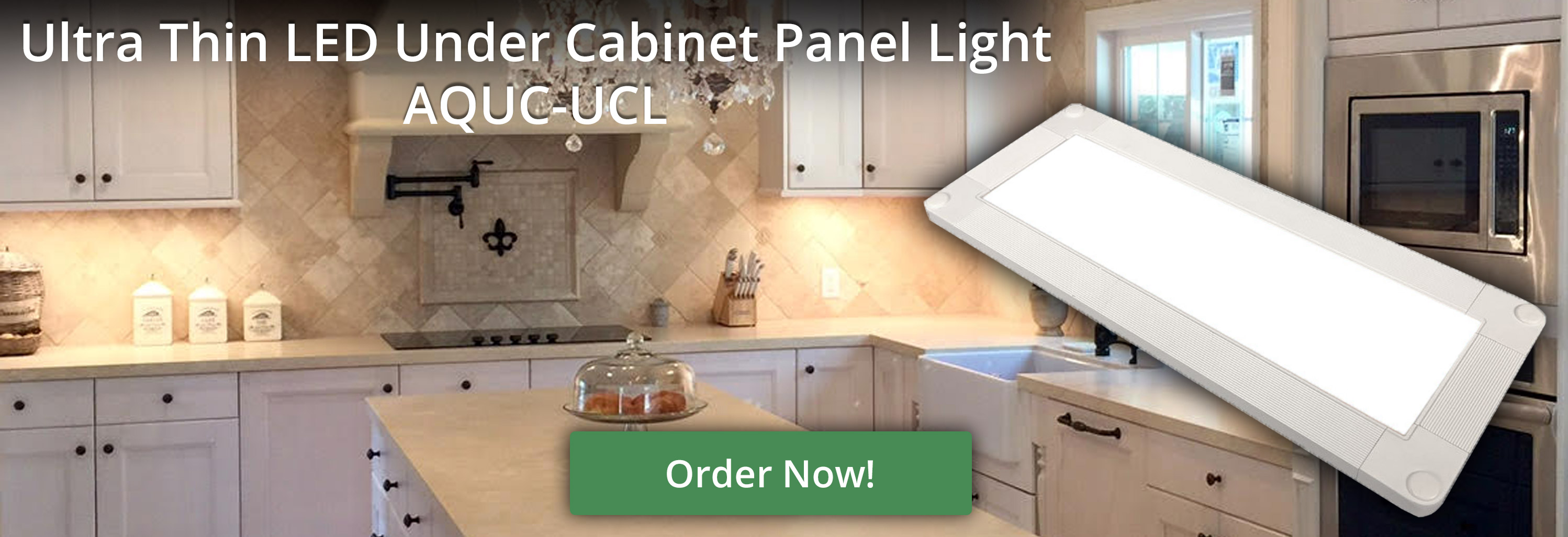 AQUC-UCL Ultra Thin LED Under Cabinet Panel Light Banner