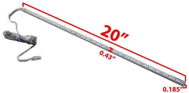 Exceptionnel 20 Inch Led Under Cabinet Light Bar Dimensions.