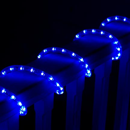 513PRO series Blue LED Rope Light Close Up In Scene