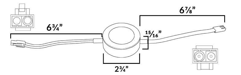 AQUCCPK10 LED Puck Light Dimensions Diagram