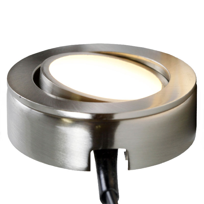 AQUCCPK10 LED Under Cabinet Puck Light In Satin Nickel