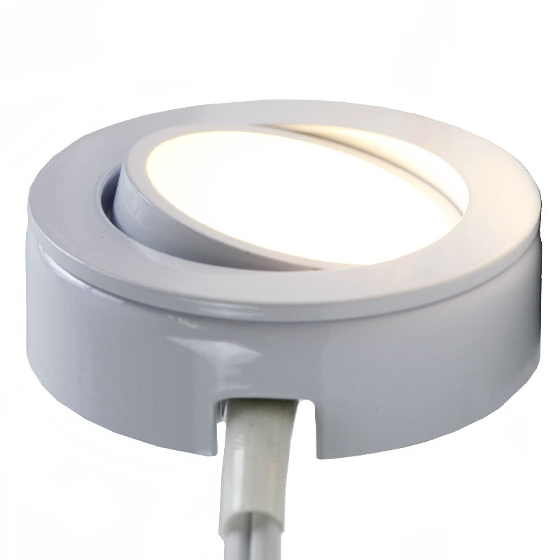 Satin Nickel AQCPK10 LED Under Cabinet Puck Light