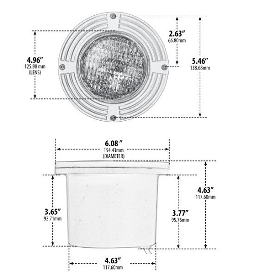 low voltage adjustable in ground well light aqlighting