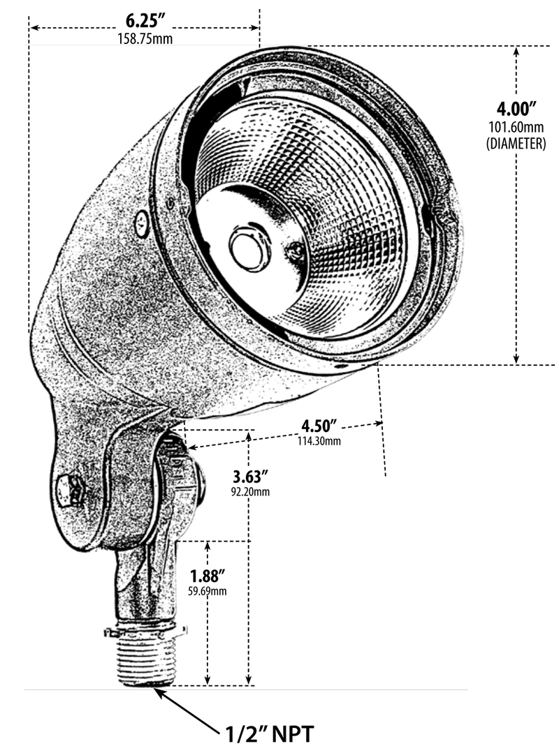 integrated led bronze directional led spotlight