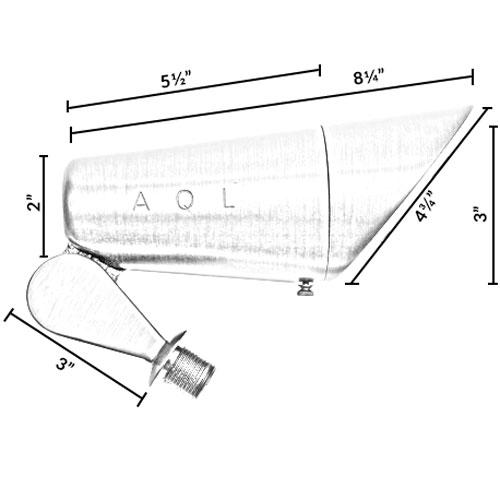 120v Brass Led Spotlight W   Angle Shield