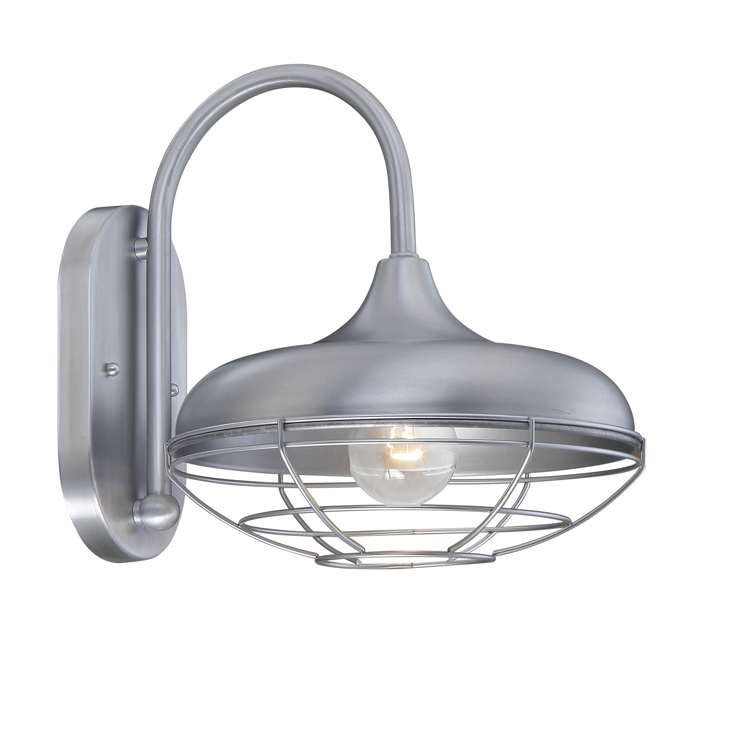 Brushed Aluminum Barn Light Style Wall Sconce