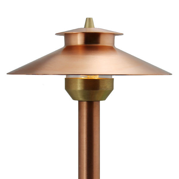 Raw Copper Landscape Lighting Fixture Selection